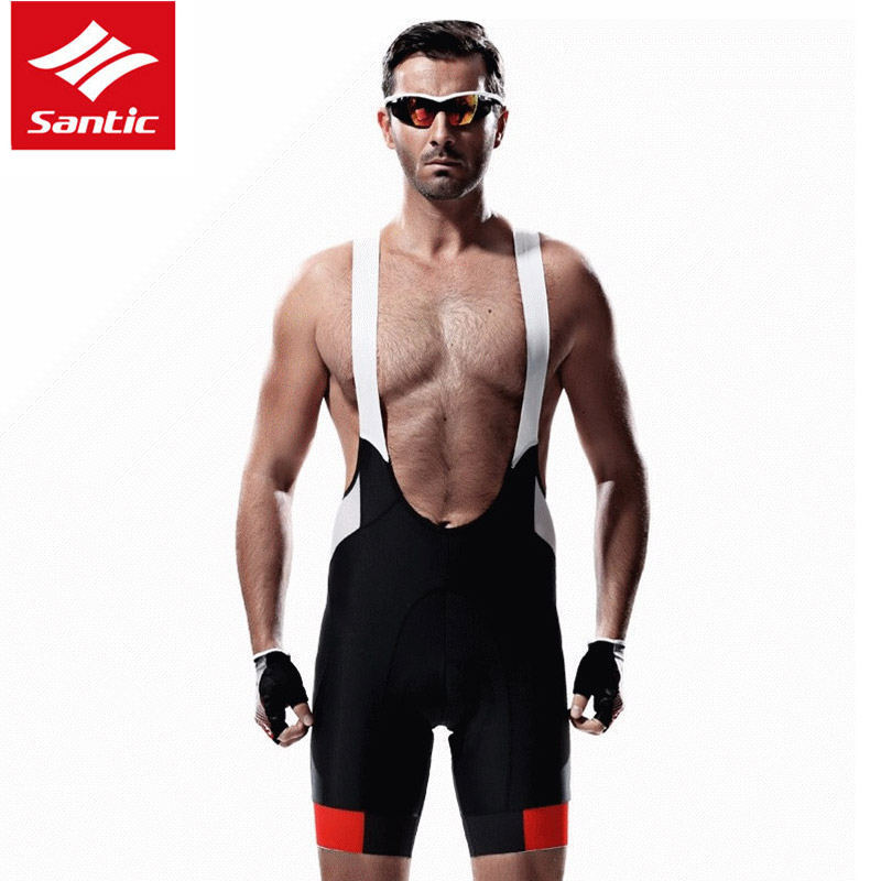 Big Size Men Bicycle Bib Shorts Breathable Anti-UV MTB Bicycle Sports Clothing Man Outdoor Wear Cycling Bib Shorts S-3XL SANTIC цена 2017