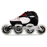 100% Original Bont Enduro 3PT Package Speed Inline Skates Heatmoldable Carbon Fiber Boot 4*90/100/110mm Wheels Skating Patines