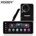 XGODY 7 polegada Android DVR Carro 1080 P GPS Navigation Dual lente Quad Core 512 MB RAM 16 GB ROM Câmera Retrovisor Traço wi-fi