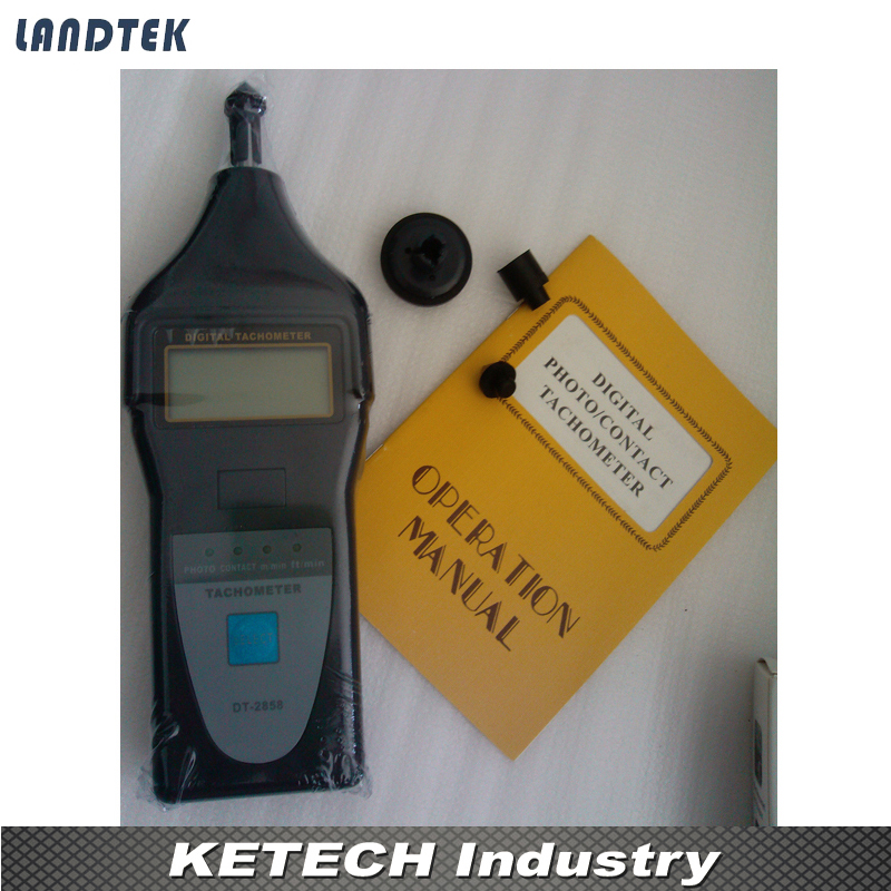 DT-2858 Laser Contact Tachometer Digital Inductive Tachometer laser type tachometer portable digital tachometer