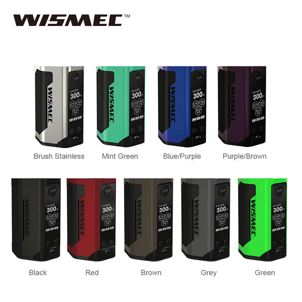 Original WISMEC Reuleaux RX GEN3 TC Box MOD Huge OLED Display Maximum Output 300W No18650 Battery E Cigs WISMEC RX GEN3 Mod