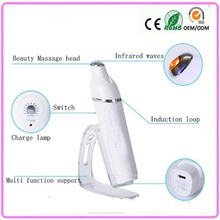 Galvanic Ion Import Infrared Heat Warming Therapy Bio Wave Micro Vibration Eye Wrinkle Eye Pouch Removal Beauty Massager Pen