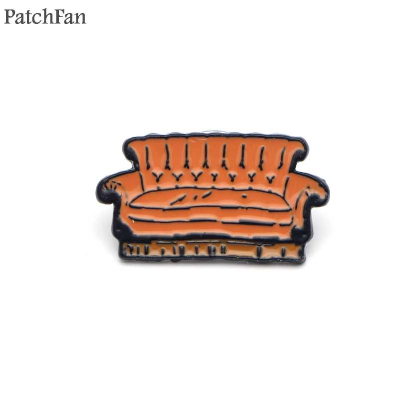 A0328 Patchfan Newest Friends Tv Show Lobster Sofa Pins Kids S Shirt Coat Brooches Clothes Diy