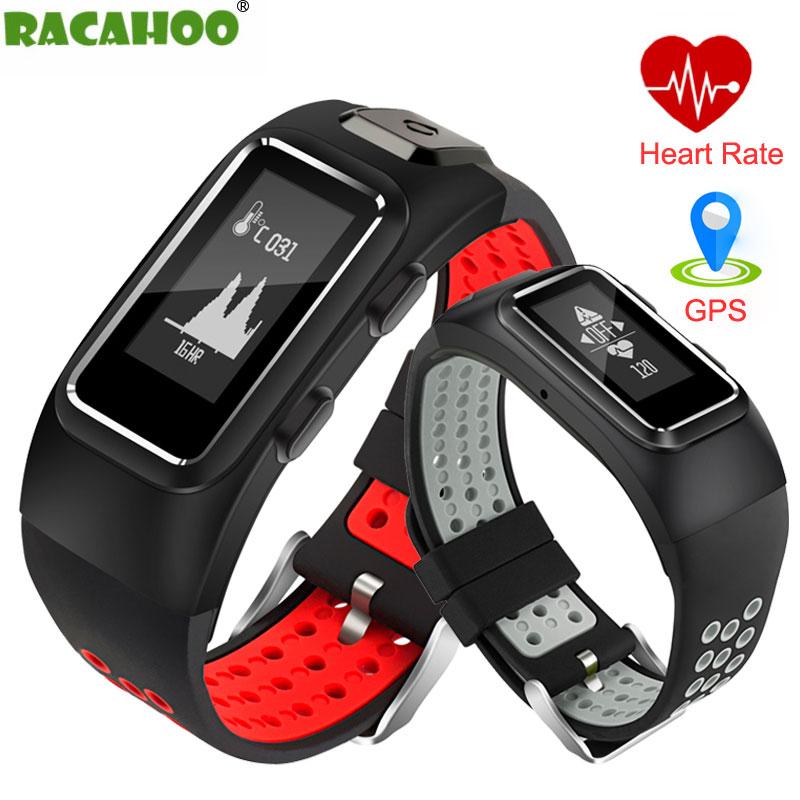 RACAHOO Smart Bracelet Waterproof IP68 GPS Bluetooth Heart Rate Sleep Monitor Pedometer Wristband For IOS Android xiaomi huawei стоимость