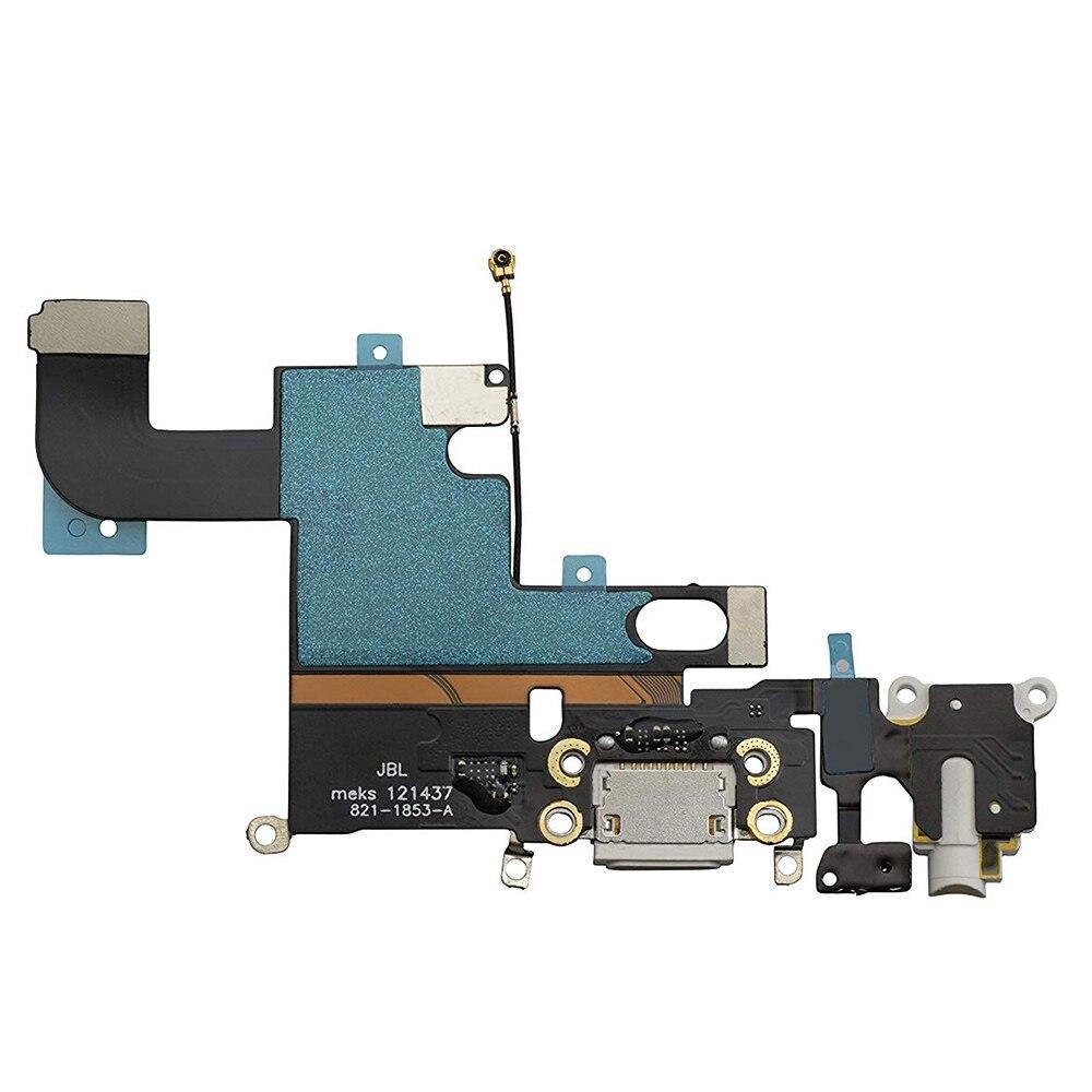 1pcs For IPhone 6 6 Plus 6s 6s Plus Mic Replacement Audio Dock Connector Charging USB Data Port Flex Cable Part