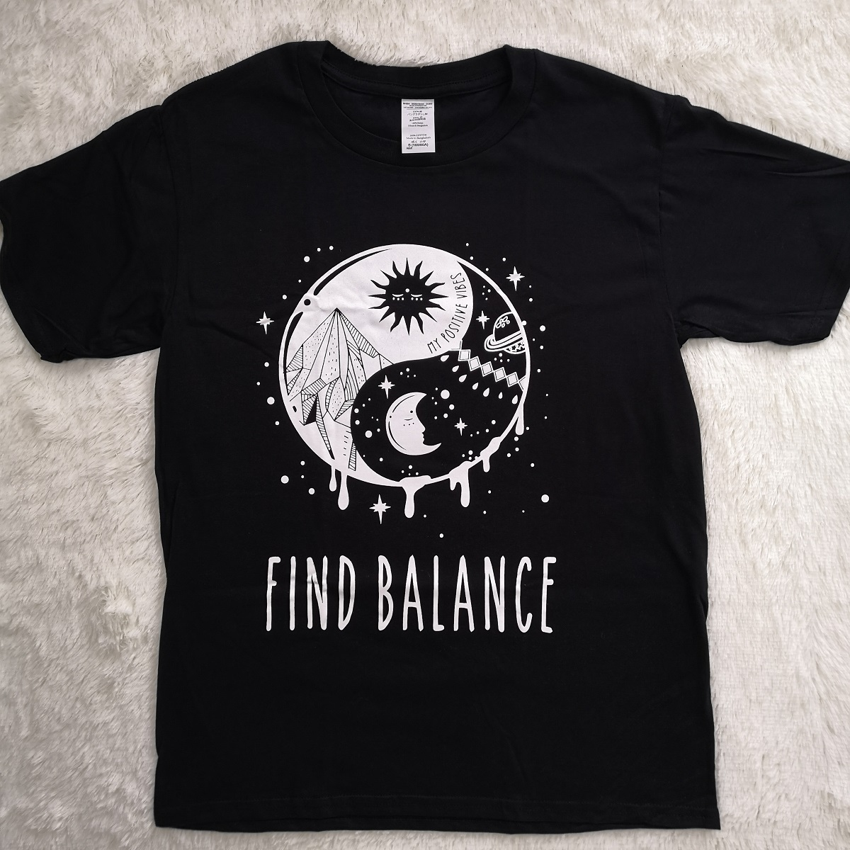 Hillbilly New Arrival Tshirt Printed Find Balance Ladies T Shirt
