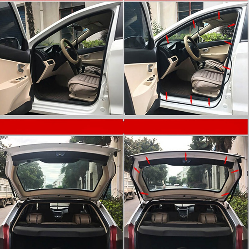 Image 5 - Car Accessories Door Rubber Seal Strips Sticker For Mitsubishi Asx Lancer 10 9 Outlander 2013 Pajero Sport L200 Expo Eclipse-in Car Stickers from Automobiles & Motorcycles