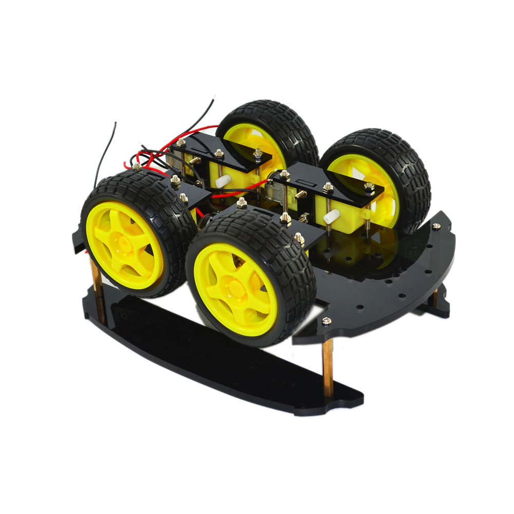 Smart Robot Car 2 Layer 4wd Smart Car Chassis Four Wheel Drive Smart Car Kit For Arduino Chassis Diy Kit #4