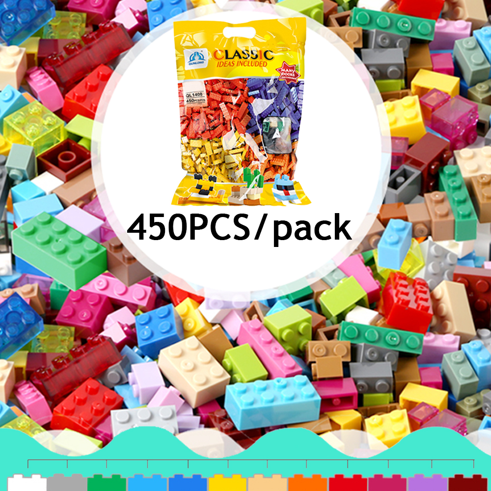 450PCS/pack DIY Building Brick Blocks Educational Toys for Kids Compatible with legoingly Gifts Mini Toy Figures Brick-separator цена