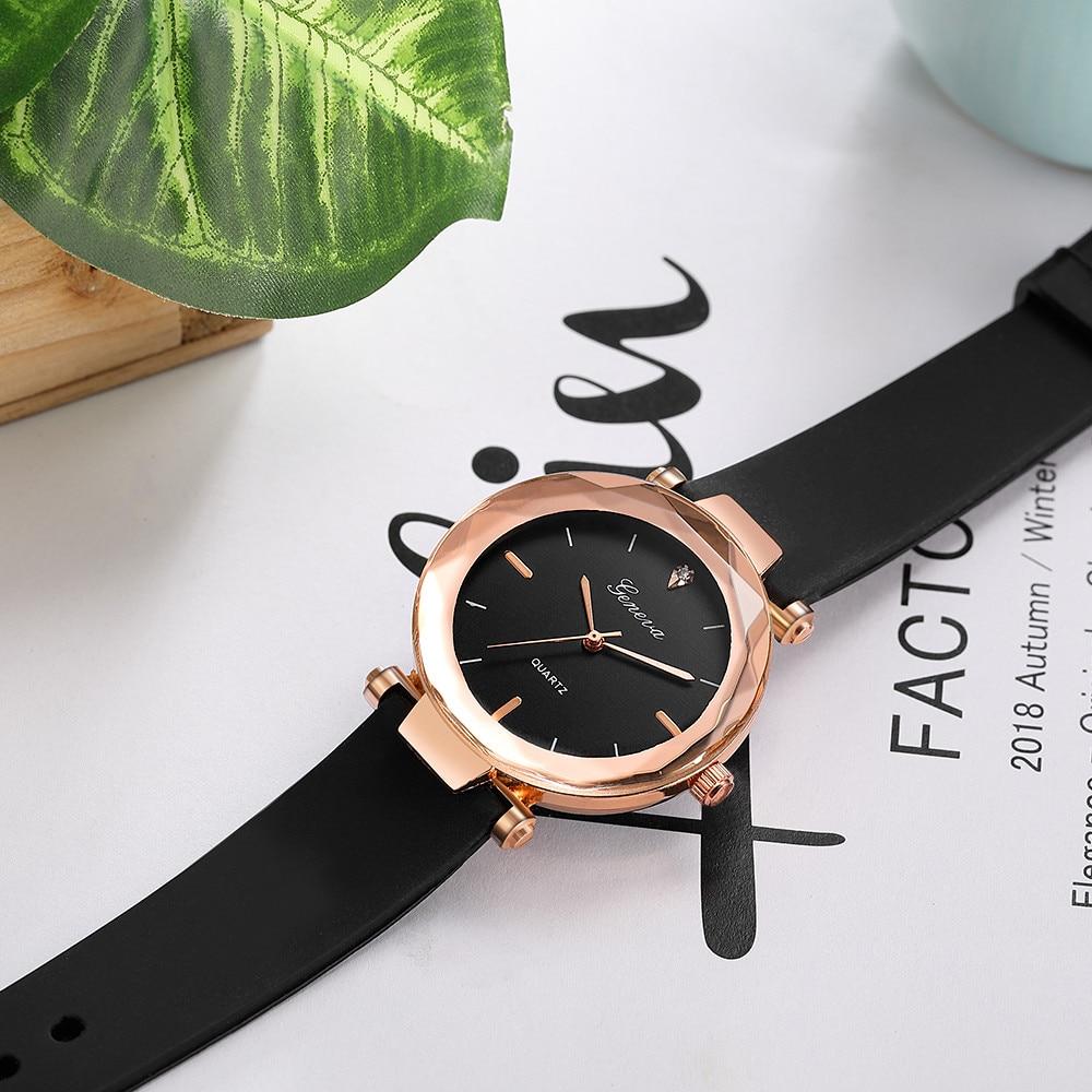 relojes mujer Fashion ladies wrist watches Womens clock Round glass silicone strap wrist watch for women ladies wrist watches 1