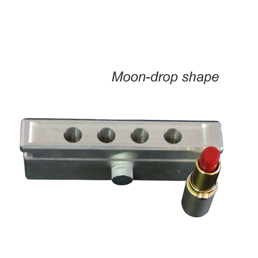 4 cavities aluminum lipstick filling mold 12.1mm,4 cavity lip stick fill mould 12.7mm, aluminum mould_Moondrop Shape 12 1 mm 6 cavities aluminum lipstick mould diy fill mold waterdrop shape mould beak style lip rouge balm with lipstick stripper