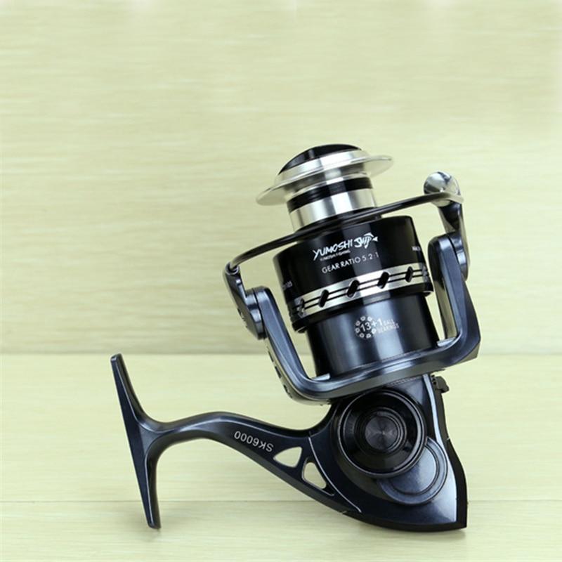 2000-7000 Spinning Reel Fishing 13 + 1 Ložiskové kuličky Levá / - Rybaření - Fotografie 6
