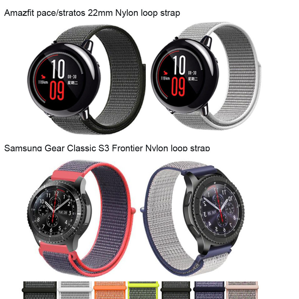 22mm Watch Bracelet for Huami Amazfit Pace Stratos Strap for Huawei Watch GT Honor Magic Dream Wrist Band for Samsung Correa22mm Watch Bracelet for Huami Amazfit Pace Stratos Strap for Huawei Watch GT Honor Magic Dream Wrist Band for Samsung Correa