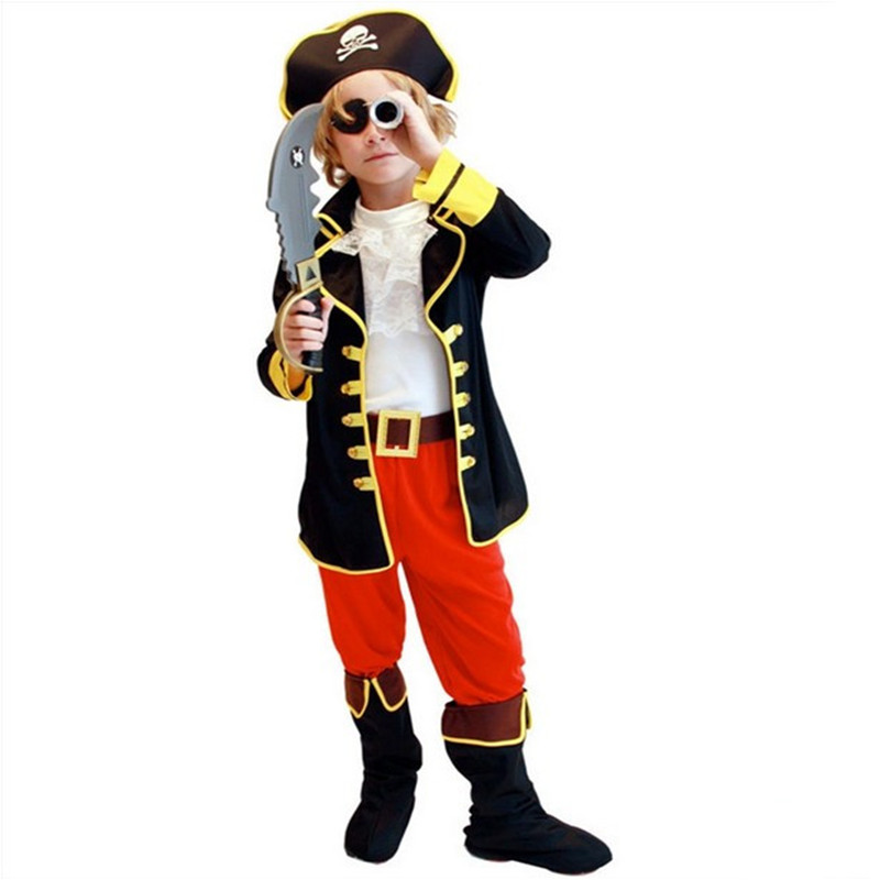 Children's Day Costumes Pirates Of The Caribbean Halloween Christmas Gift For Children Kids Clothes Performance (no Weapons)