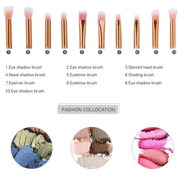 4/10pc Diamond Rainbow Make Up Brush Set Professional Eye Make Up Eyeliner Eyebrow Eyeshadow Brush Set Maquiagem Makeup Brushes