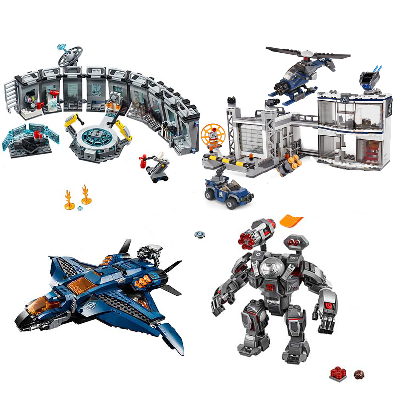 New Superheroes Avengers 4 Fit For Legoingly marvel avengers 76131 76124 76125 76126 Figures Building Blocks bricks Toy Gifts