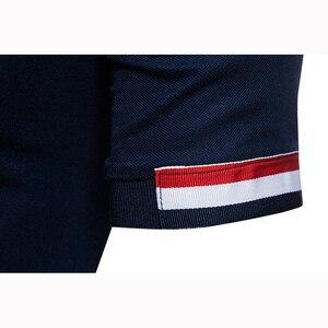 Image 5 - Polo à manches courtes pour homme, flambant neuf, slim, design en coton, avec fermeture éclair, respirant, grande taille, EU, 2018