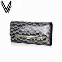 VEEVAN 2015 Designer Wallets Famous Brand Women Wallet 2015 Fashion Crocodile Grain Pu Leather Women Purse