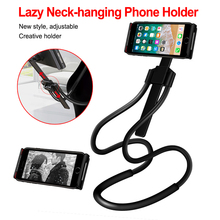 Flexible Mobile Phone Holder Hanging Neck Lazy Necklace Bracket Bed 360 Degree Smartphone Stand For iPhone Xiaomi Huawei