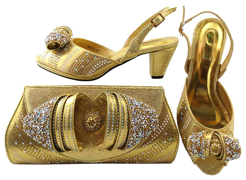 Shoes With Matching Bags For Nigeria Wedding Party  Italian Design Shoes And Bag To Match Stones African Shoe And Bag MM1045 fashion italy design italian matching shoe and bag set african wedding shoe and bag sets women shoe and bag to match tmm1 41