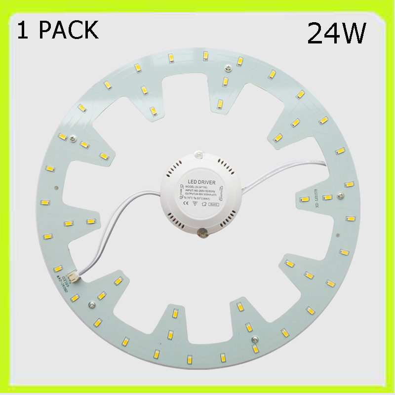 1 PACK rund 24W LED-Downlight LED-Platine LED Techo LED warm kaltweiß LED-Rundrohr = 50W 2D-Rohr 120V 220V 230V 240V