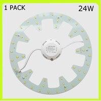 1 PACK runde 24 W LED unten licht led board PCB led techo LED warm cold white led rundrohr = 50 W 2D rohr 120 V 220 V 230 V 240 V|LED-Downlights|Licht & Beleuchtung -