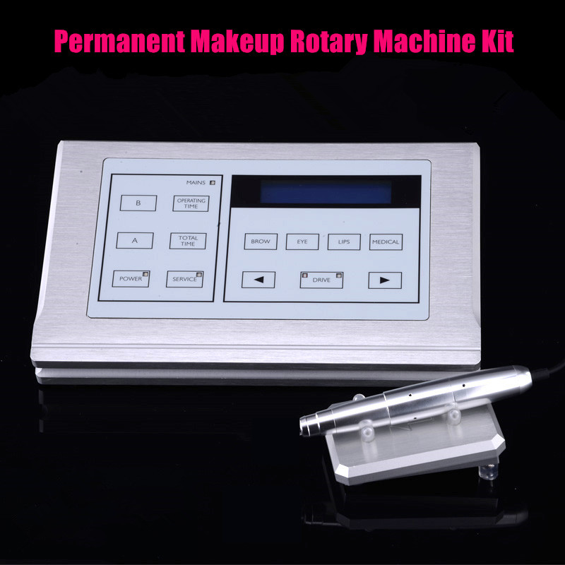 NEW Eyebrow Make up Kits for &Lips/ Rotary Swiss Motor Tattoo Machine Kit /Permanent Makeup Machine pen kit Free Shipping by DHL free shipping 1 piece permanent makeup pen machine 600d c with special needle 600d g for eyebrow lips tattoo machine kit