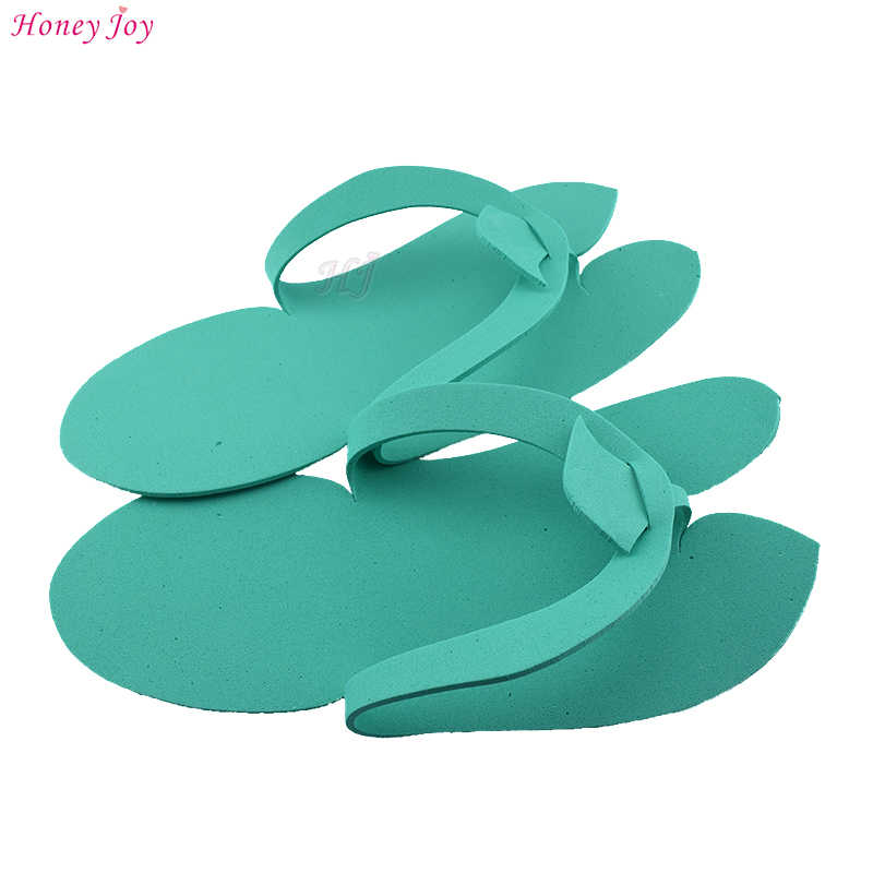 0cfb0ce53f8 ... 12pairs lot Anti-skidding Disposable Spa Pedicure Slippers Comfortable  Convenient Nail Art Salon Flip ...