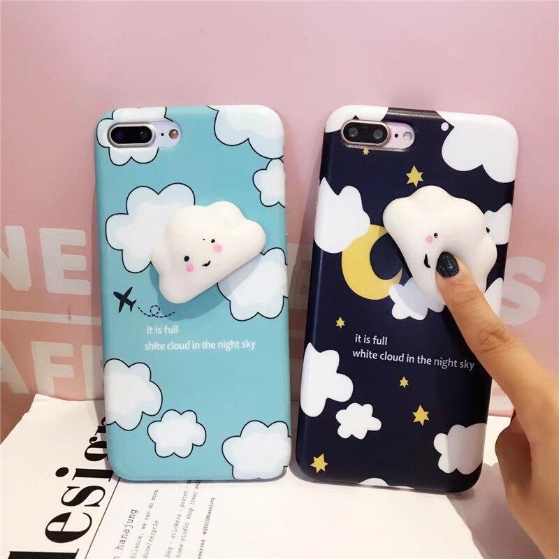 Girls Case Cute 3D Squishy Cloud Sky