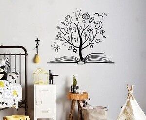 Image 1 - Wisdom Tree Vinyl Wall Sticker Child Teen Study Room Bedroom Library Decoration Wall Sticker Home Decor Art Decal YD03