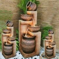 Течет фонтан увлажнитель ремесла европейские украшения домашний декор бонсай