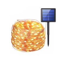 New 5M 50LED Outdoor Solar Lamps LED String Lights Fairy Holiday Christmas Party Wedding decoration Garlands Solar garden Lig