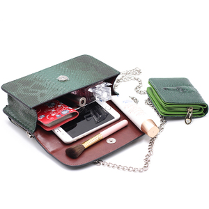 Image 5 - XMESSUN 高級本物のパイソン革ハンドバッグクロスボディショルダーバッグ蛇デザイナー日クラッチチェーンクロスボディバッグ