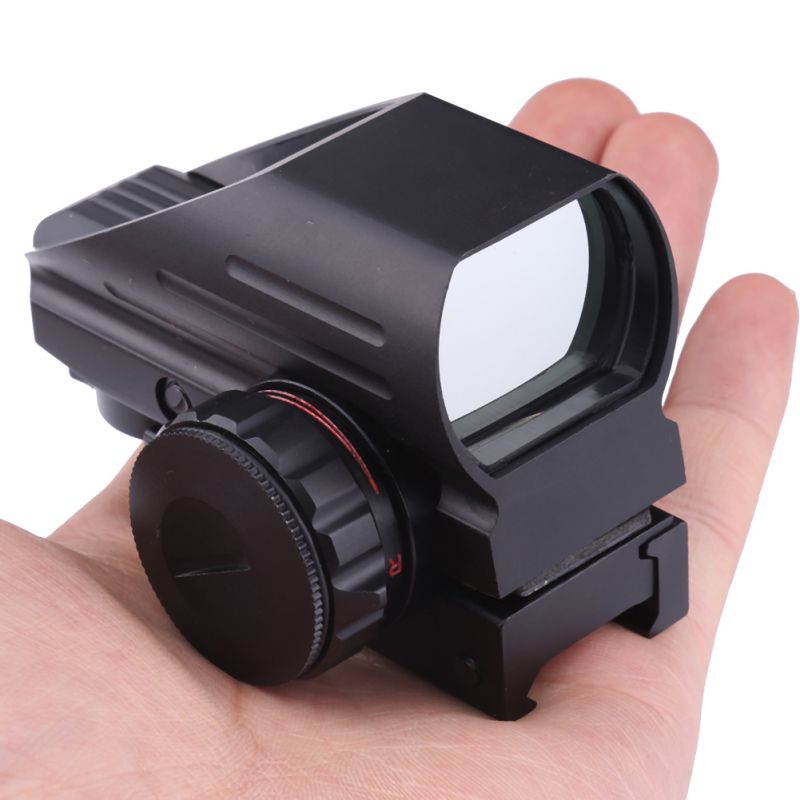 2018 New Wholesale 20mm Rail Riflescope Hunting Tactical Holographic Reflex Red Green Dot Sight Scope Hunting Rail Mount цена