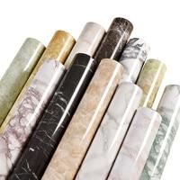 SUNICE Marble Waterproof Self adhesive Wallpaper Modern Living Room PVC Kitchen Shelf Drawer Liner Wall Stickers 1.22x10m