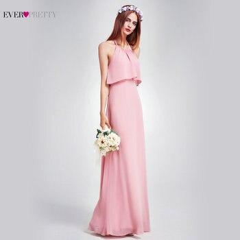 Elegant Bridesmaid Dresses Ever Pretty EP07130 Long Chiffon Dress A-line  Ruffle 2018 Bridesmaid For Wedding Party Guest Dress 961ea7bc7abd