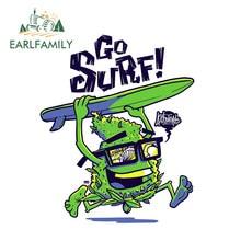 EARLFAMILY – autocollant réfléchissant en vinyle de 13cm x 13cm, autocollant de dessin animé Buds Go Surf pour voiture, couverture de moteur de voiture, décoration de coffre de fenêtre