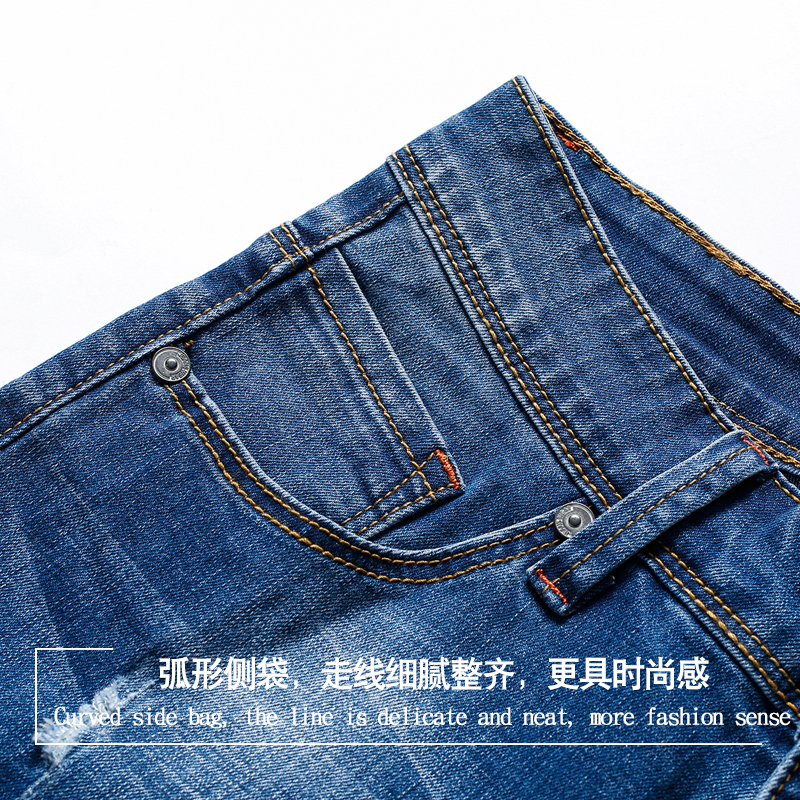 Summer shorts men jeans cropped trousers mens jeans trousers denim shorts mens shorts men cotton
