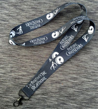 Black The Nightmare Before Christmas Jack Skellington Head Straps Lanyard ID Badge Holders Mobile Neck strap cosplay girls gift(China)