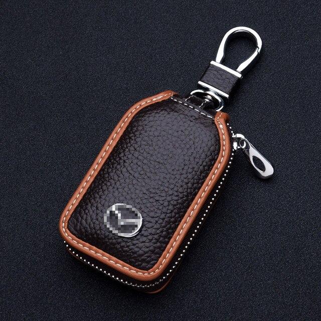 Genual carpeta dominante de cuero, bolso de la caja del sostenedor dominante auto para Mazda 3 6 2014, CX-5 CX-7, cx-9, car styling