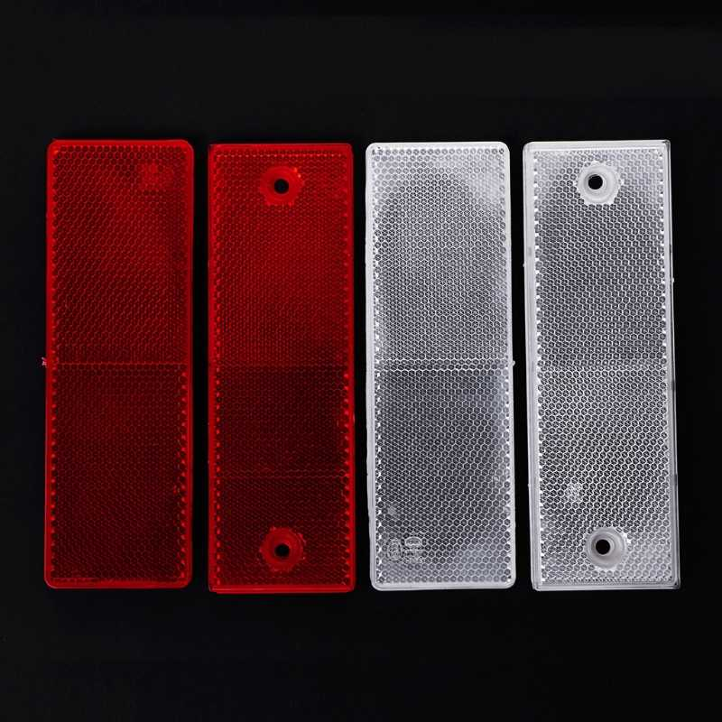 2019 New 2018 2pcs Plastic Reflector Reflective Warning Plate Stickers Sign Sheeting Car Truck
