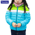 Baby Boys And Girls Jacket Coat Korean Style 2017 New Winter 3 Color Thin Short Hooded Jacket For Children
