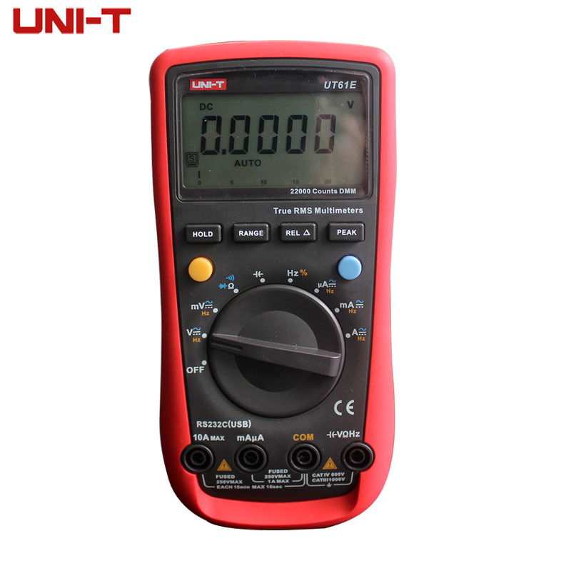 ФОТО UNI T UT 61E Modern professional electrical digital multimeters UT61E AC DC Meter Auto range Free shipping