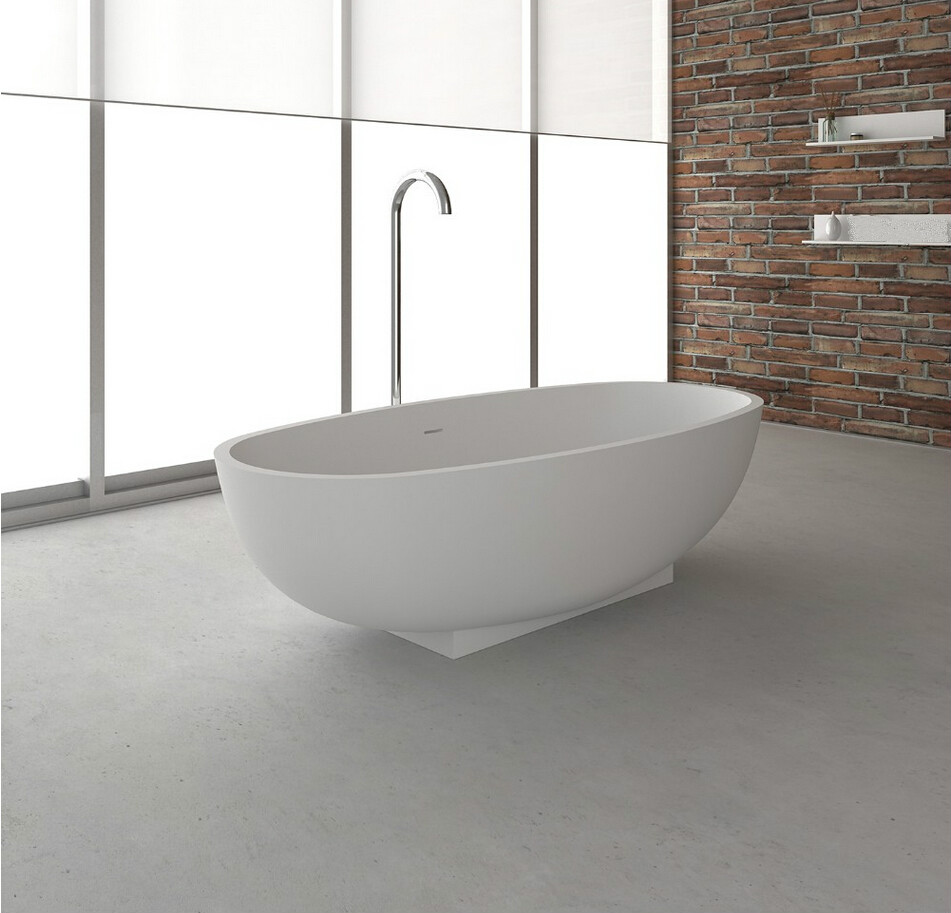 1700x800x500mm Solid Surface Stone CUPC Approval Bathtub Oval ...