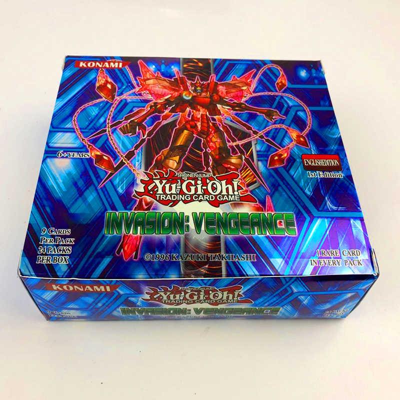 Juego de 216 piezas Yugioh con caja yu gi oh Anime figuras de acción tarjetas de colección de juegos niños juguetes para niños