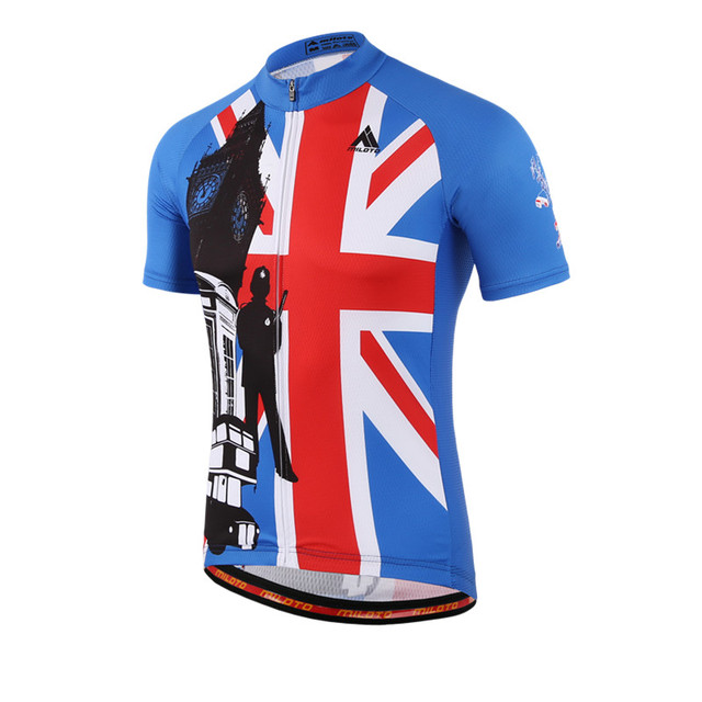 UK Style Mens Bike Team Cycling Jersey Tops Short Sleeve Cycling Clothing  Ropa Ciclismo mtb Bicycle a42898667