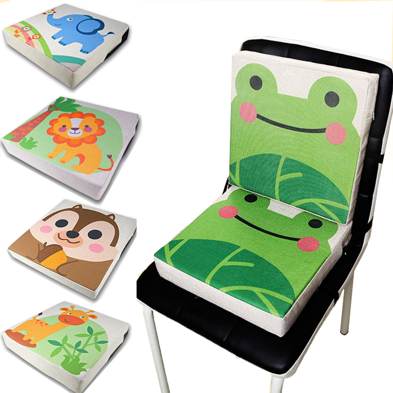 Chrilren Kids Increased Booster Seat Cushion Pad Pillow Baby Dining High Chair Seat Cushions Adjustable Removable Baby Safety