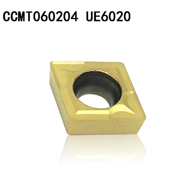 20PCS CCMT060204 CCMT21.51 UE6020 carbide inserts Internal Turning tool CCMT 060204  Face Mill Lathe Tools  cutter CNC tool