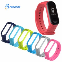 New mi band 3 wristband accessories pulseira miband 3 strap replacement silicone wrist strap for xiaomi band3 smart bracelet