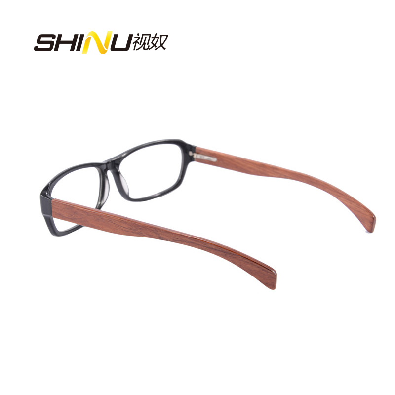 Kacamata optik penghantaran percuma kacamata bingkai kayu asli dengan - Aksesori pakaian - Foto 3